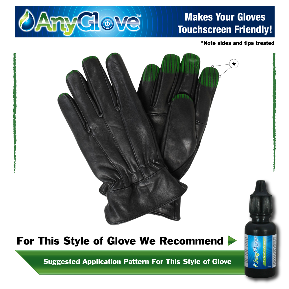 AnyGlove For Leather Makes your leather gloves touchscreen friendly.